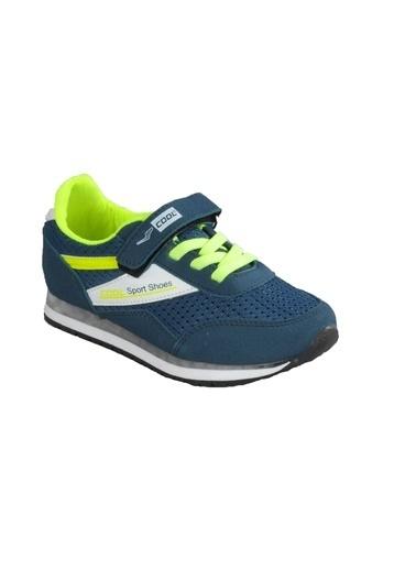 Cool 20-S13 Petrol-Sarı Çocuk Spor Ayakkabı Petrol